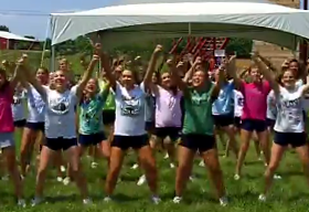 Cheerleaders bond through team development activities at Northstar